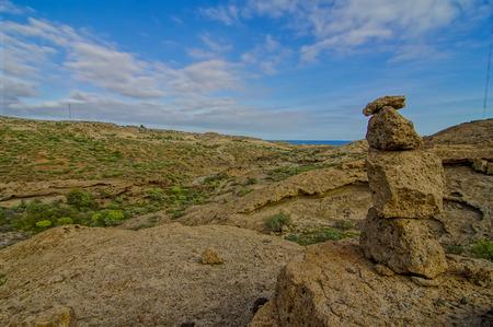 equipoise: Buddist Volcanic Rocks Column in Tenerife Canary Islands Spain