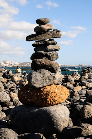 The Buddhist Traditional Stone Pyramids in Tenerife Canary Islands Spain photo