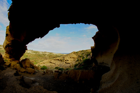 natural formation: Volcanic Formation Natural Arch in the Desert Tenerife Canary Islands Spain