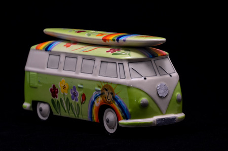 1968 Hippie Camper Special Van Miniature Close Up photo