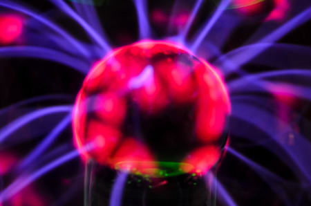 Plasma Static Electricity in a Tesla Sphere photo