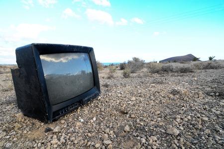 broken television photo