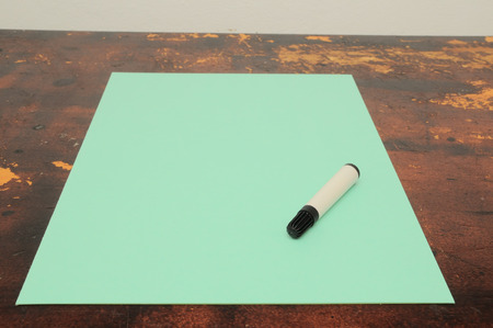 Exam Concept Picture Paper Sheet on a Wooden Table photo