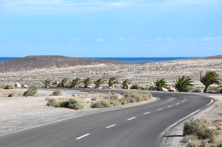 Lonely Road in the Desert Tenerife Canary Islands photo