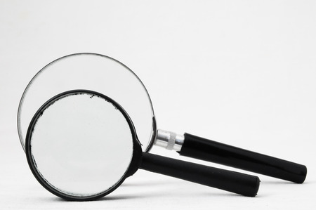 low scale magnification: Magnifying Glass Loupe on a White Background