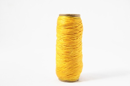 cable knit: Roll of Twine isolated on a White Background