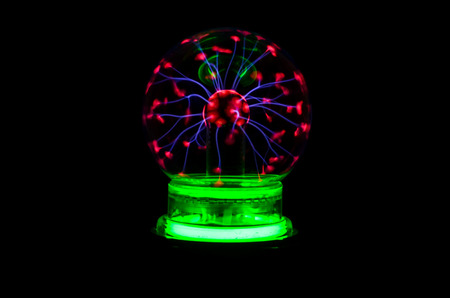 Plasma Static Electricity on a Tesla Sphere photo
