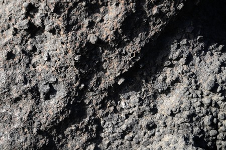 Stone Texture Hardened Lava in Tenerife Volcanic Canary Island photo