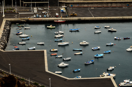 airlie: Aereial View of Boats in an Atlantic Ocean Port