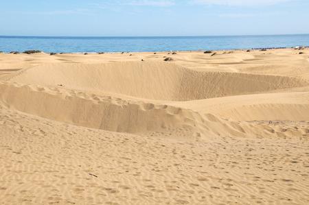African European Sand Dune Desert Landscape in Gran Canaria Island Spain photo