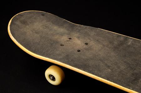 80 s: Vintage Style Skateboard on a black Background