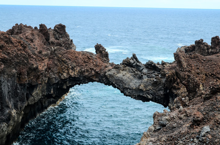 Natural Stone Arch in El Hierro Canary Islands photo