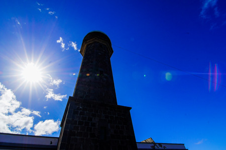 Lighthouse at the Western Place of the Canary Islands Faro de Orchilla point of the prime meridian until 1894 photo