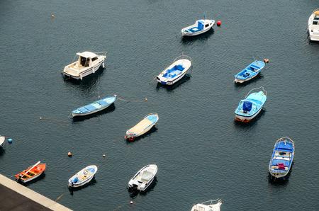 Aereial View of Boats in an Atlantic Ocean Port photo