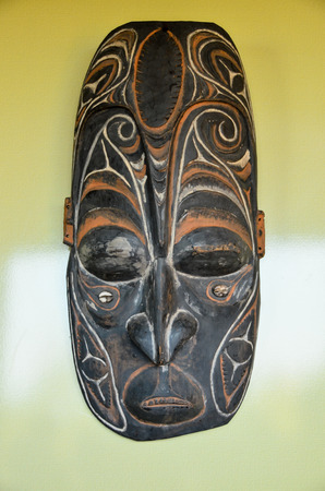 australasia: Typical Wooden Face Mask from Papua New Guinea