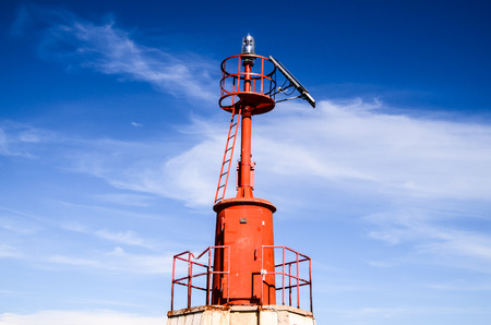 The Red Steel Lighthouse near Sottomarina Venice photo