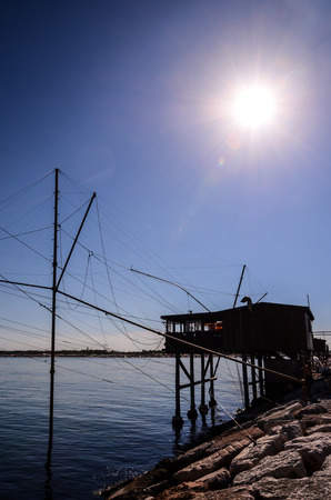 Traditional Fishing Europen House near Venice in Italy photo