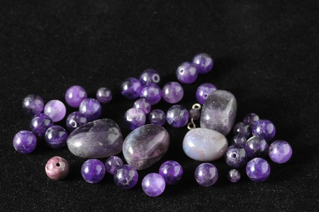 Amulet Amethyst Stone Ready to Make Handmade Jewelry photo