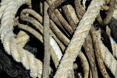 Naval Rope on a Pier, in Canary Islands, Spain photo