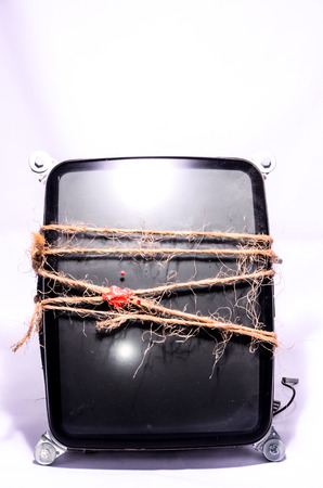 Vintage Cathode Ray Tube CRT Wrapped with Twine photo