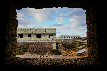 Abandoned Buildings of a Military Base in Tenerife Canary Islands Spain photo
