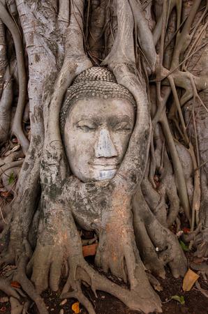 Typical Thai Buddha Handmade Statue Grunge Background photo
