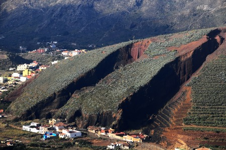 Strong Erosion on an Hill in Tenerife, Spain photo