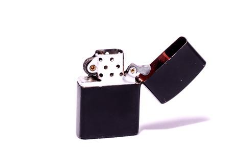 Vintage  lighter Style Lighter On a White  photo