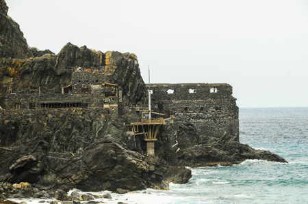 vallehermoso: Ancient Old Rock Castle Near the Atlantic Ocean