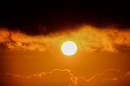 Sun Setting on the Atlantic Ocean in Tenerife Canary Island, Spain photo