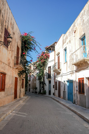 egadi: View of Egadi Islands town in Sicily, Italy