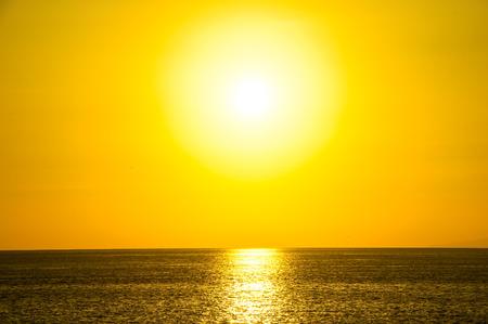 Sun Setting on the Atlantic Ocean photo