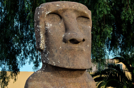 Moai standing from Easter Island , Chile South America photo