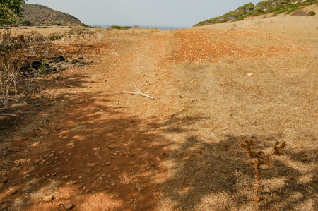 levanzo: Dry Landscape Countryside in Egadi Islands Sicily Italy