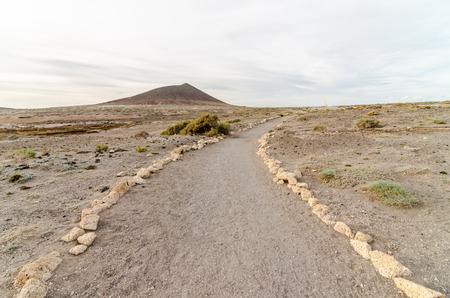 Empty Footpath in the Tenerife Canaty Islands Desert photo