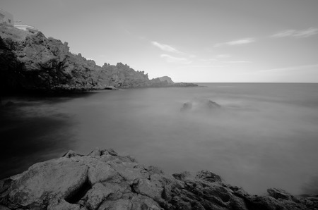 infra red: Infrared BW Picture of the Ocean with Long Exposure