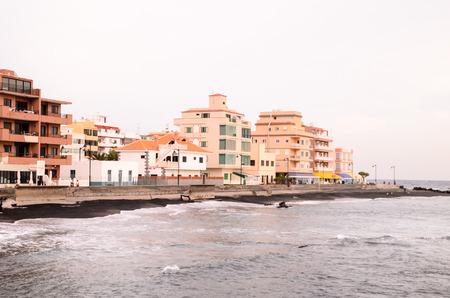 arona: Beautiful Beach Las Galletas in Arona, Canary Islands Tenerife, Spain Stock Photo