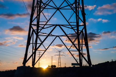 High Voltage Electric Transmission Tower Energy Pylon photo