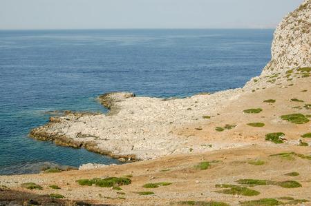 egadi: Dry Landscape Countryside in Egadi Islands Sicily Italy
