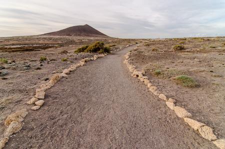 Empty Footpath in the Tenerife Canaty Islands Desert photo