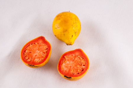 Fresh Yellow Ripe Maracuya Tropical Passion Fruit photo
