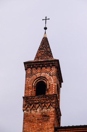 Typical Gothic Belfry Church Tower in Italy