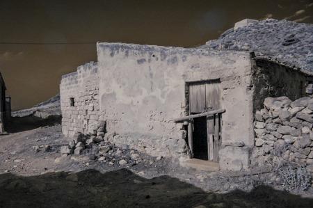 egadi: Infreared Dry Landscape Countryside in Egadi Islands Sicily Italy