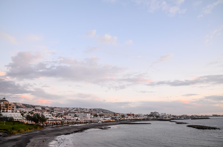 adeje: View of Playa de Fanabe Adeje Tenerife, Canary Islands, Spain