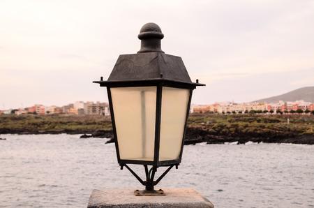 lamp light: Vintage Classic Street Lamp Light Metal Lantern Stock Photo