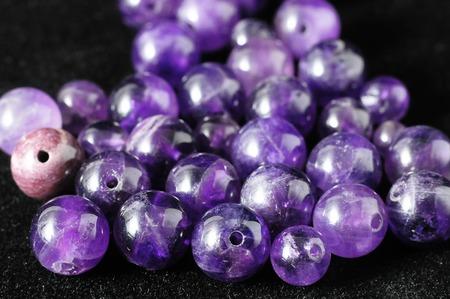 metaphysical: Amulet Amethyst Stone Ready to Make Handmade Jewelry Stock Photo