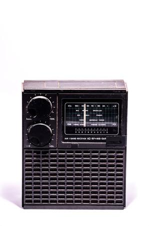 70s: Old Retro Vintage 70s Radio on a White Background