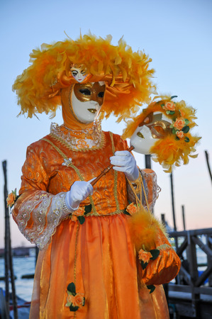 Traditional Carnival Venice mask with Colorful Decoration photo