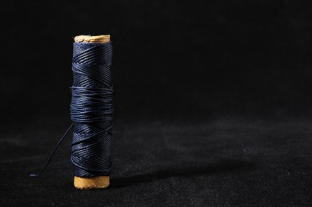 weave ball: Roll of Twine isolated on a Black Background