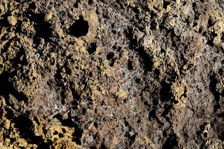 hardened: Stone Texture Hardened Lava in Tenerife Volcanic Canary Island Stock Photo